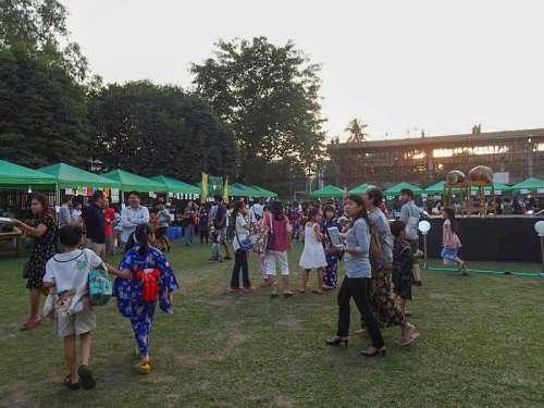 ヤンゴン日本人学校で春祭り